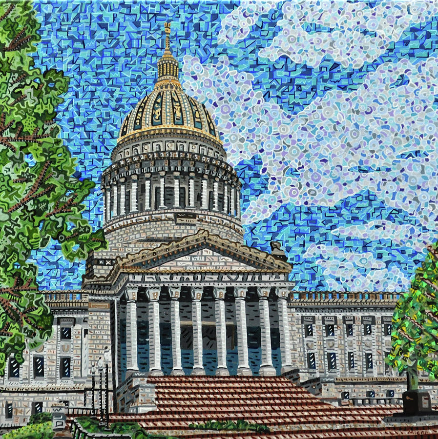 West Virginia State Capitol Painting by Micah Mullen
