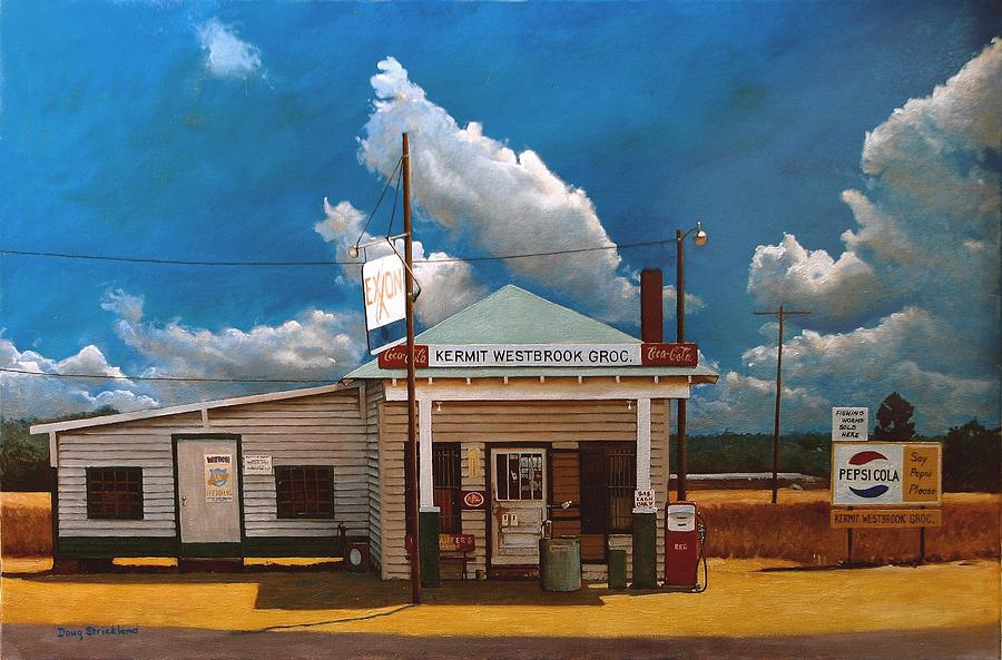 Antique Painting - Westbrook Country Store by Doug Strickland