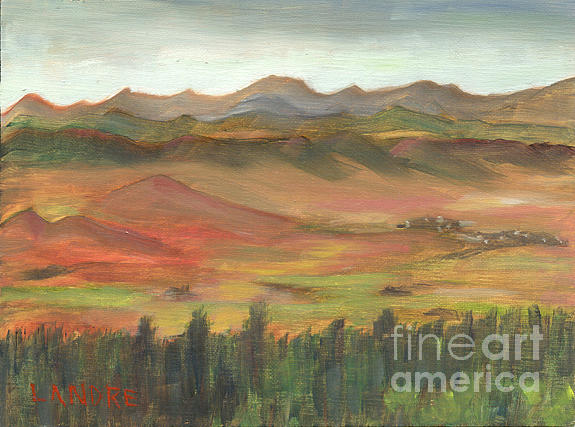 Colorado Painting - Westcliffe Valley I by Lilibeth Andre