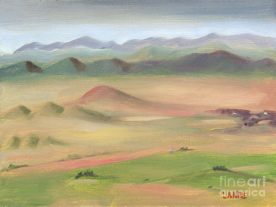 Fog Painting - Westcliffe Valley II by Lilibeth Andre