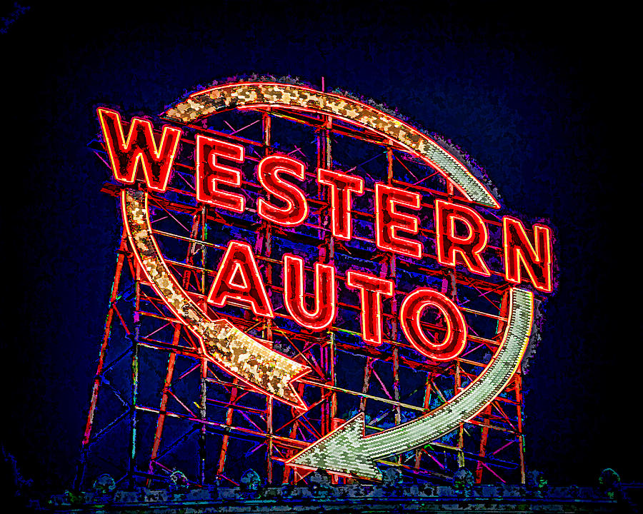 Western Auto Sign Digital Art Photograph By Kevin Anderson