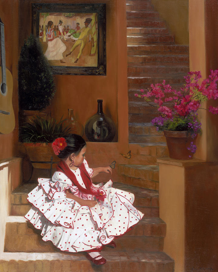 Mexico Painting - Western Grace Of Good Cheer    Mexico    From The Three Graces Of The West by Anna Rose Bain