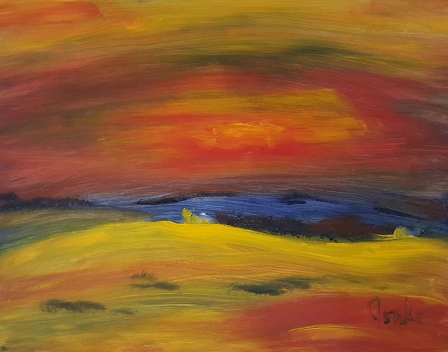 Landscape Painting - Western Horizon  by Steve Jorde