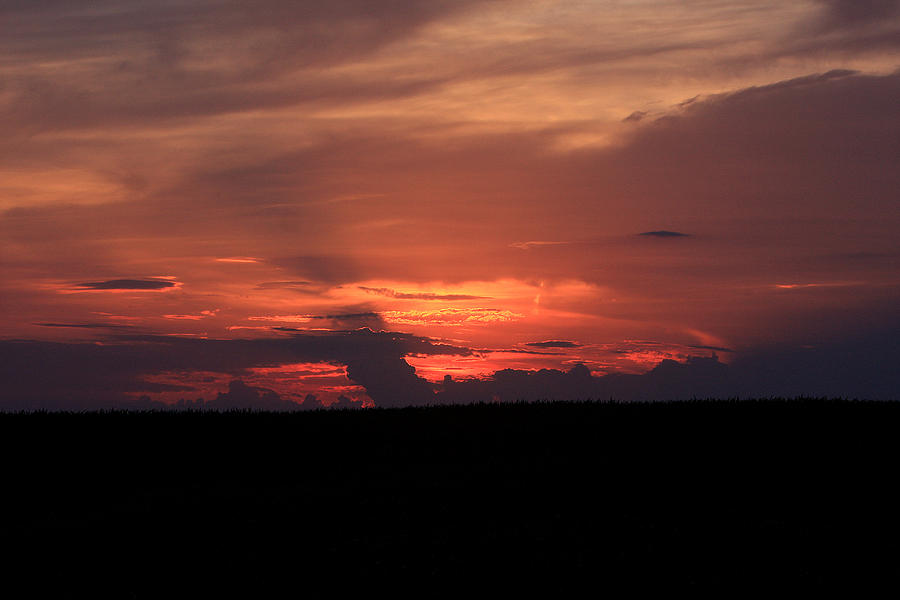 Sunset Photograph - western Illinois Sunset by Dave Clark