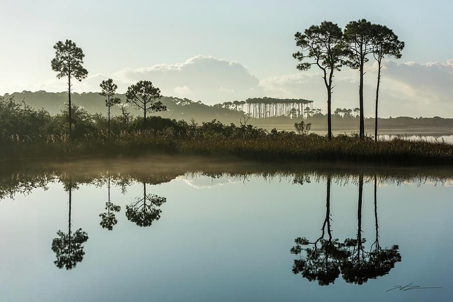 Western Lake Misty Morning by Kurt Lischka