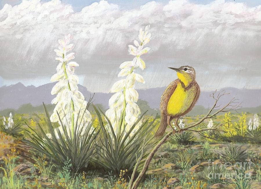 Meadowlark Painting - Western Meadowlark by Don Lindemann