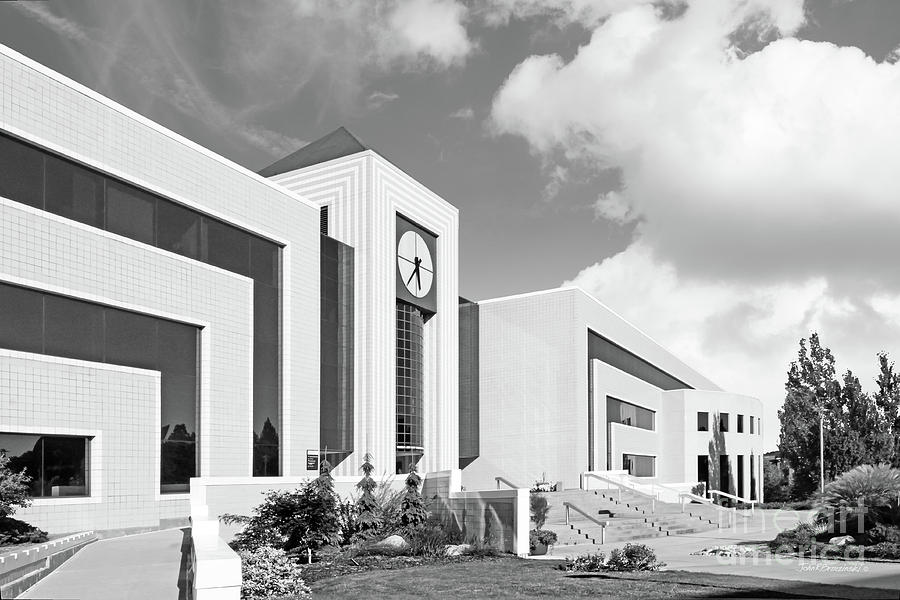 American Photograph - Western Michigan University Stewart Clocktower And Waldow Library by University Icons
