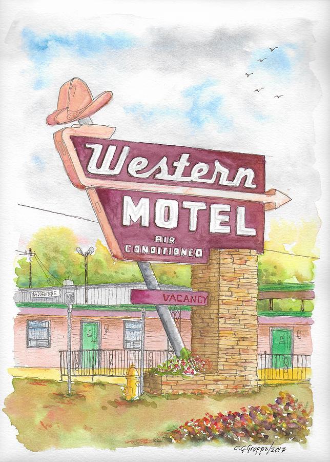 Western Motel in Bethany, Oklahoma by Carlos G Groppa