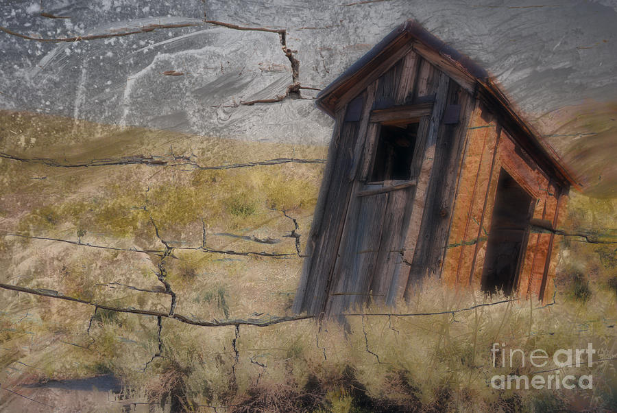 Landscape Photograph - Western Outhouse by Ron Hoggard