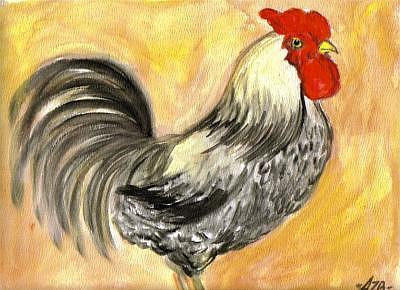Western Rooster Painting by Aislinn Brander