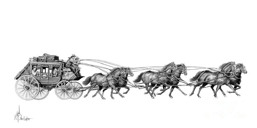 Frank McCarthy | My Favorite Westerns  |Large Western Stagecoach Art