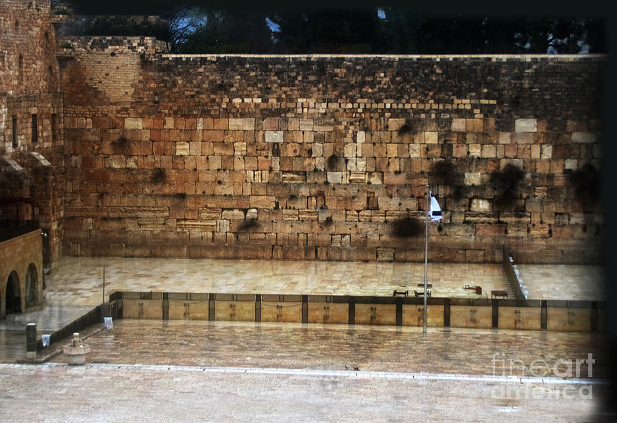 Western Wall Photograph - Empty Western Wall by Doc Braham