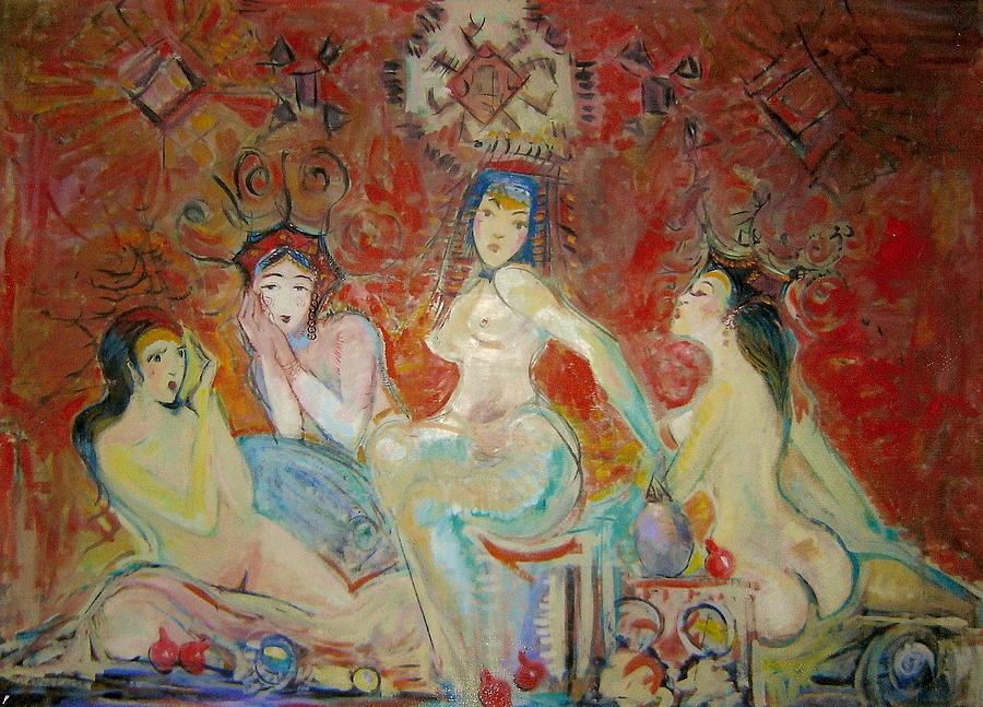 Oriental Women Painting by Art Hrasarkos