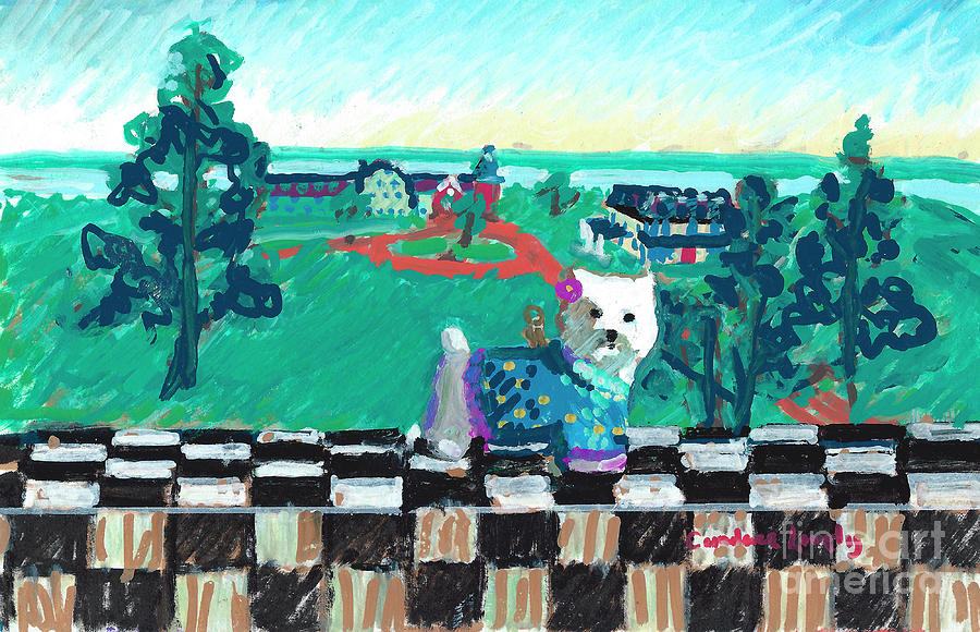 Westie From The Barn Painting