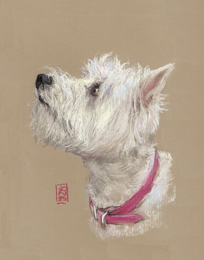 Akc Painting - Westie Profile by Debra Jones