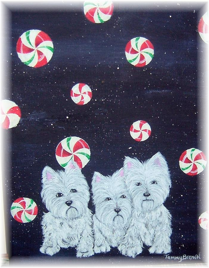 West Highland Terrier Painting - Westies In Candy Land by Tammy Brown