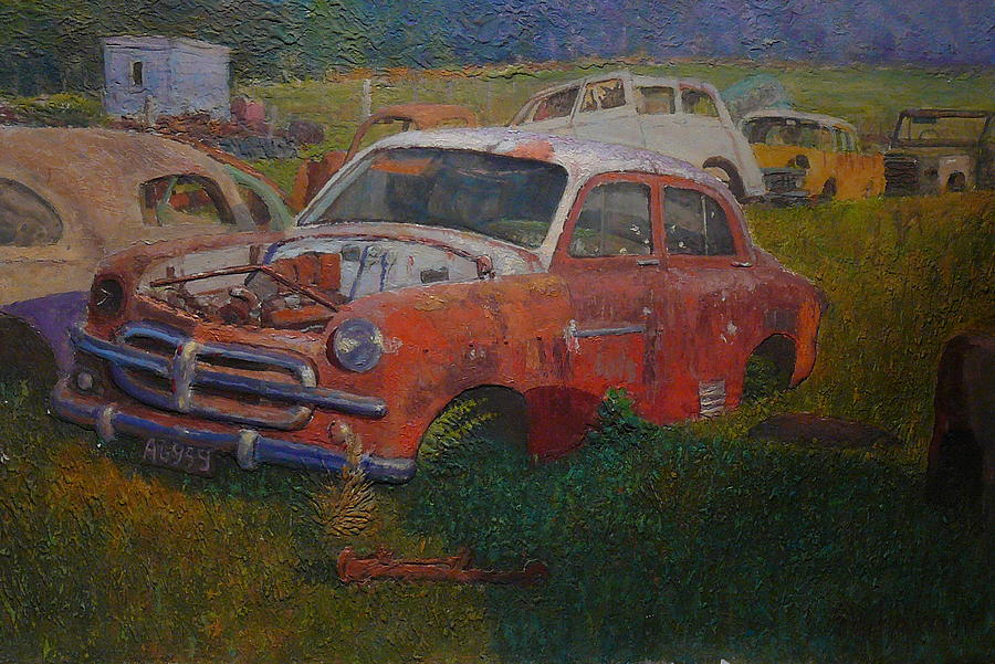 Old Cars Painting - Westland 1980s by Terry Perham