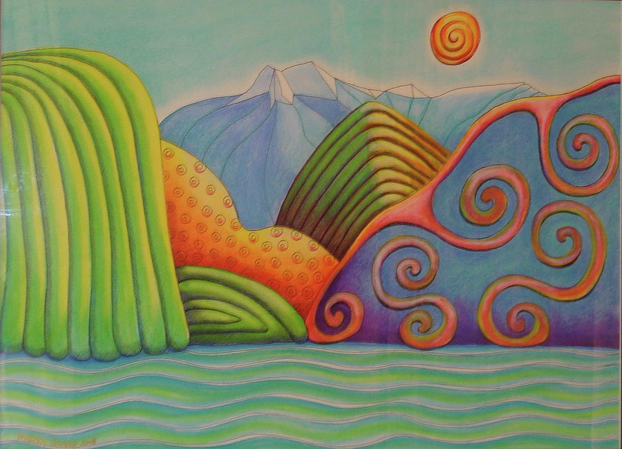 Landscape Painting - Westland Lake Nz by Barbara Stirrup