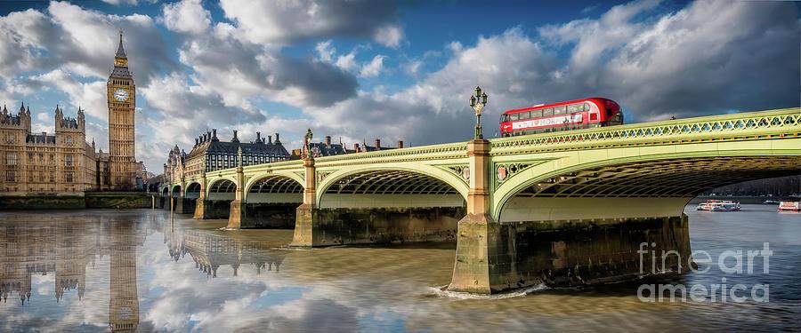 Cityscape Photograph - Westminster Bridge by Adrian Evans