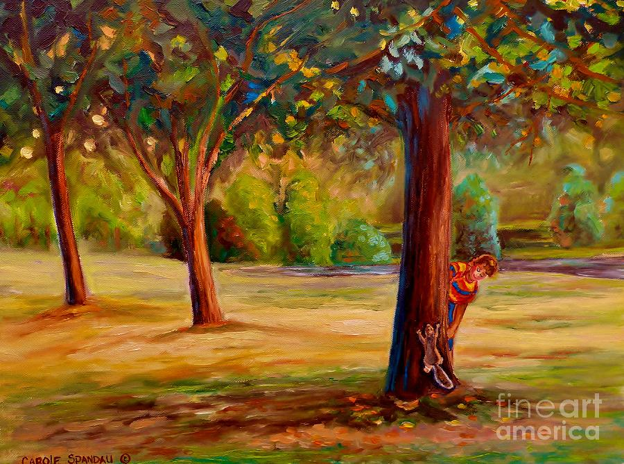 Montreal Painting - Westmount Park Montreal by Carole Spandau