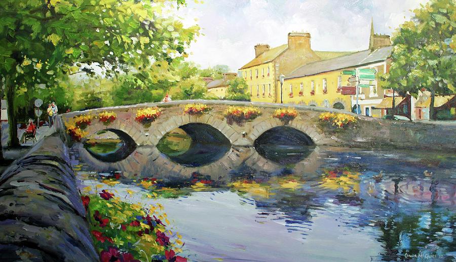 Bridge Painting - Westport Bridge County Mayo by Conor McGuire