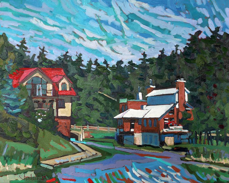 Westport Painting - Westport Cove by Phil Chadwick