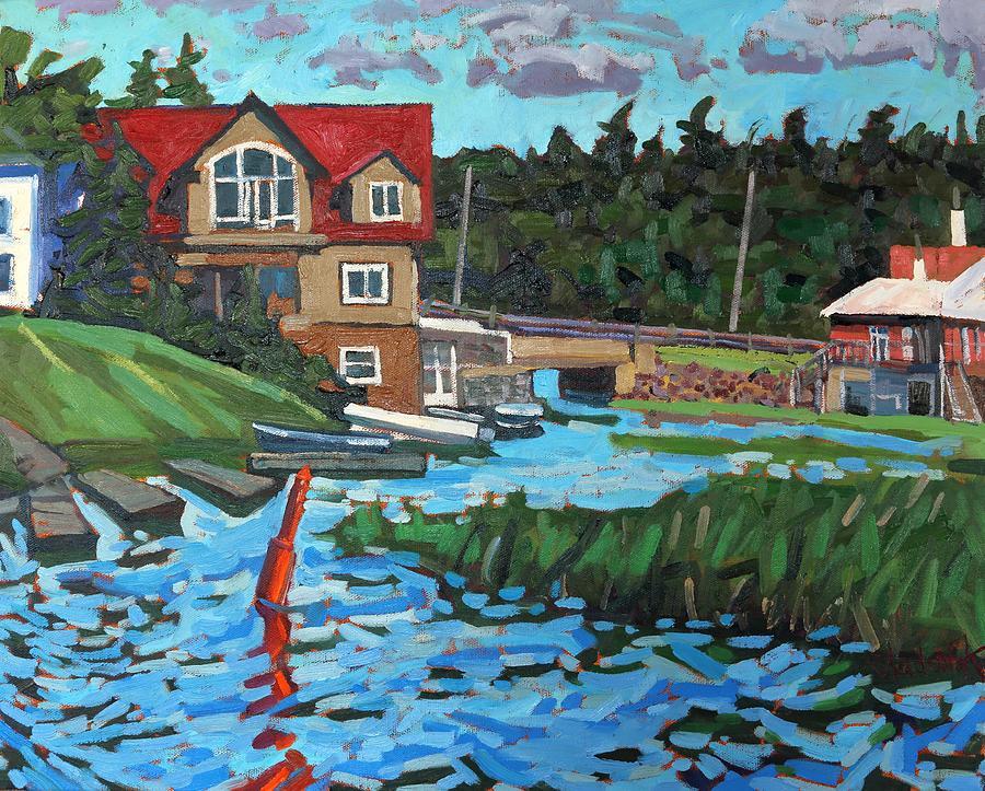 Westport Painting - Westport Grist Mill by Phil Chadwick