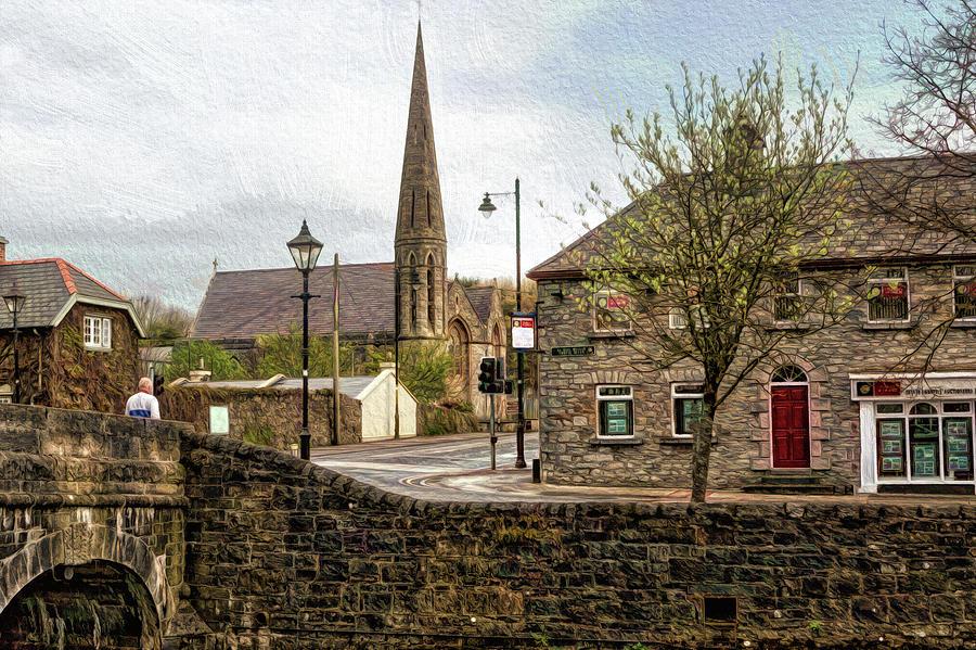 Celtic Digital Art - Westport Town by Chris Hood
