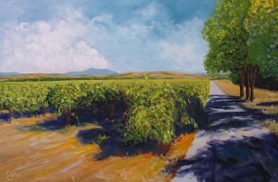 Westside Road Fall Painting by Bill Gittins