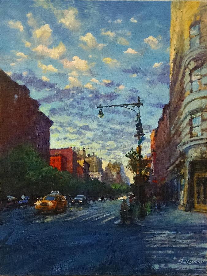 Landscape Painting - Westside Sunset No. 4 by Peter Salwen