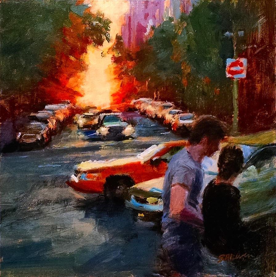 Landscape Painting - Westside Sunset No. 3 by Peter Salwen