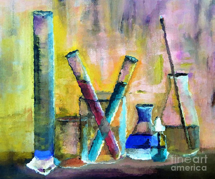 Wet Chemistry Painting By Lisa Kaiser