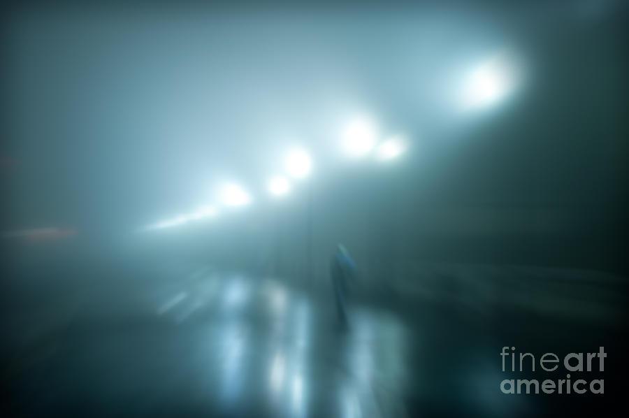 Atlantic City Photograph - Wet Foggy Night by John Greim