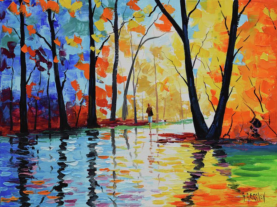 Nature Painting - Wet Night by Graham Gercken