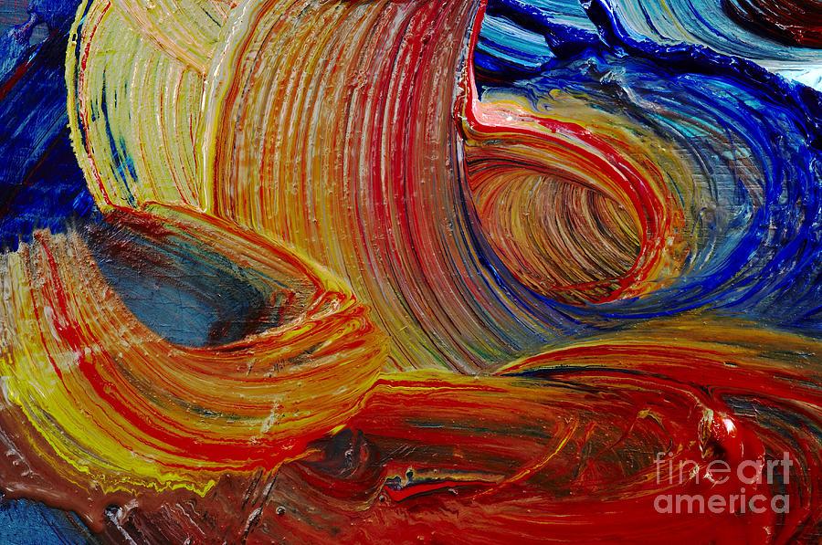 Stroke Painting - Wet Paint - Run Colors by Michal Boubin