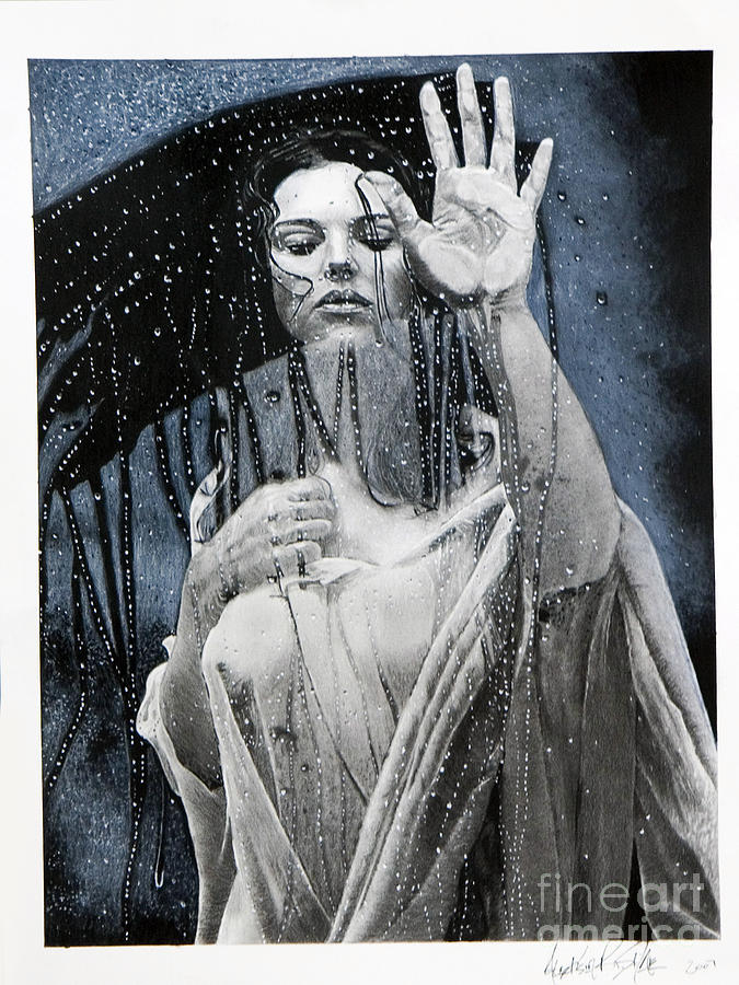 Charcoal Painting - wet by Raymond Potts