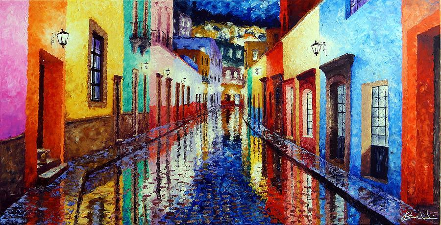 Baldi Wall: Wet Street Painting By Jose BALDI