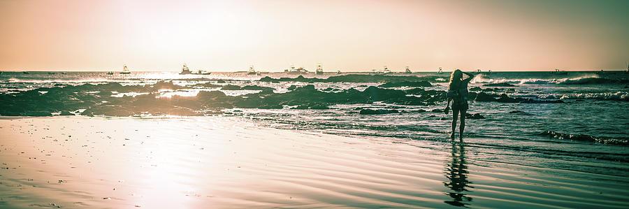 Wet Sunset Walk by T Brian Jones