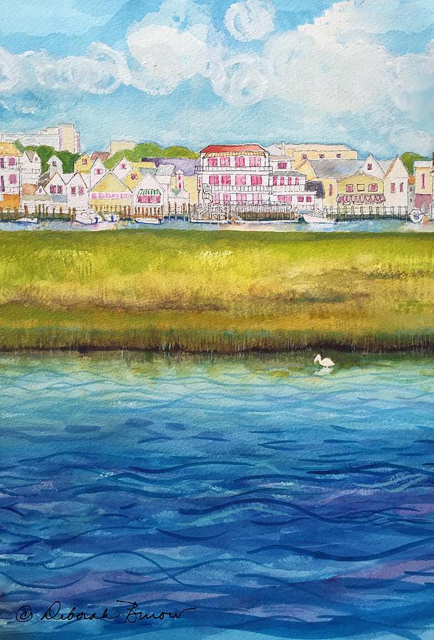 Wildwood Nj Painting - Wetlands Wildwood Two by Deborah Burow