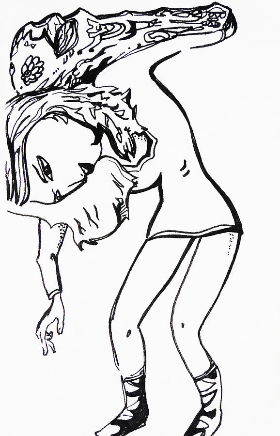 Girl Drawing - Weve Got This by Joseph Demaree