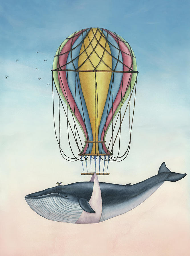 Whale And Bird Painting