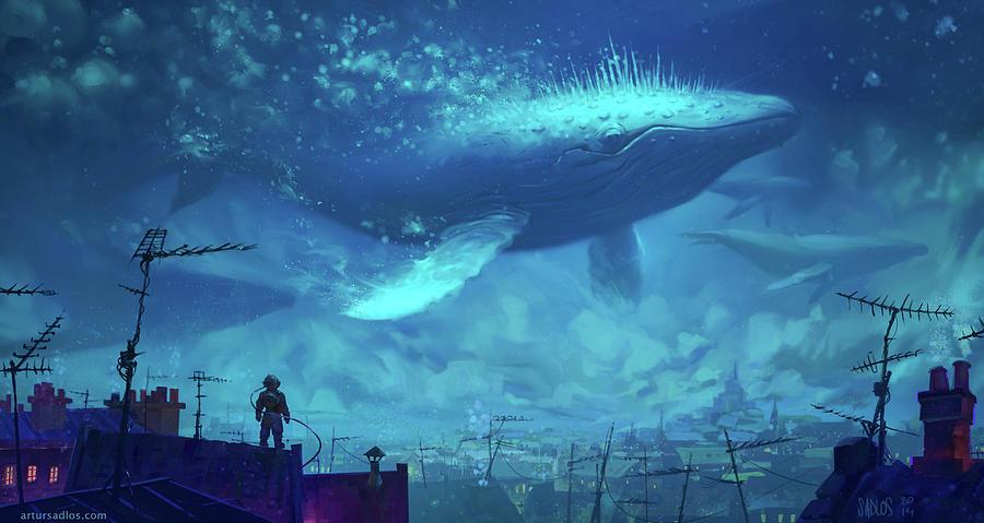 Whale Digital Art - Whale by Dorothy Binder