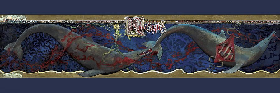 Rheostatics Painting - Whale Music by Martin Tielli