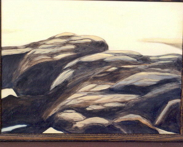 Whale-watching Rocks Painting by Ben Owen