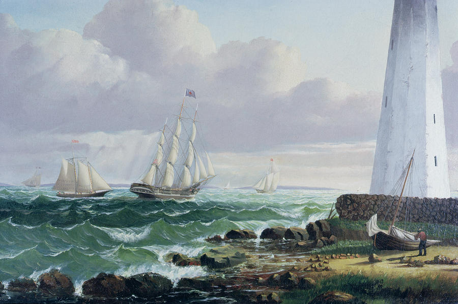 Whalers Painting - Whalers Coming Home by American School