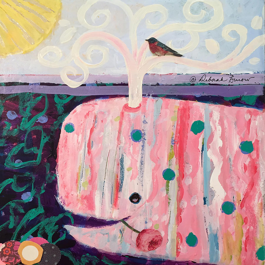 Spouter Painting - Whales Tale The Beginning Of The End by Deborah Burow