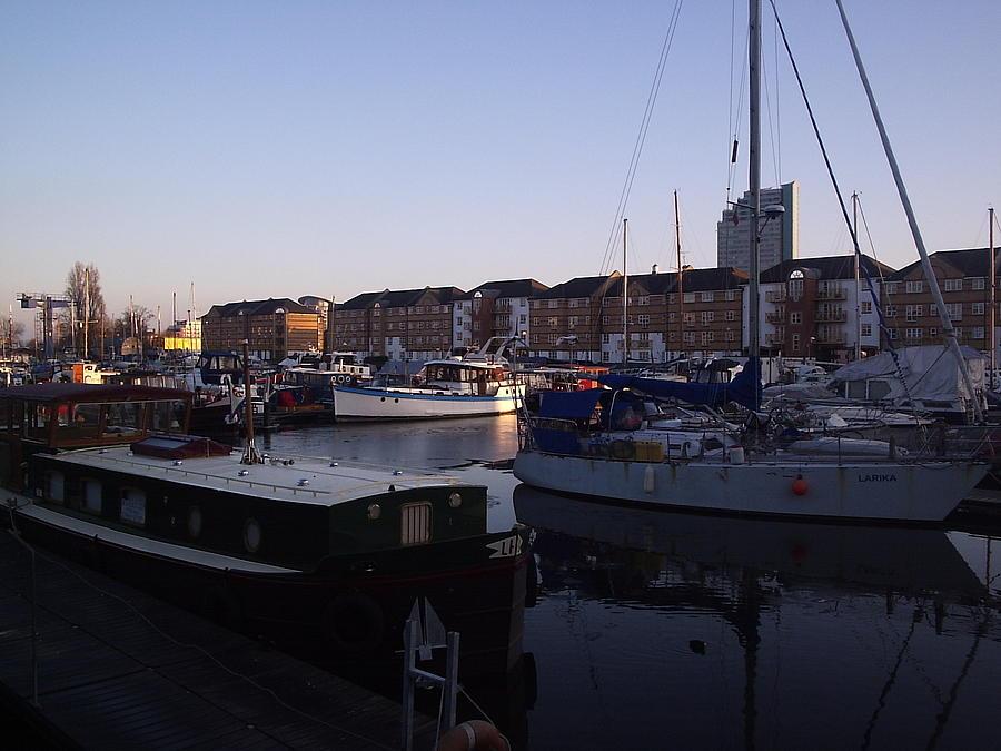 Wharf Photograph by Moni Joan