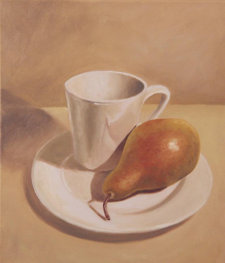 Pear Painting - What A Pear by Eva Folks