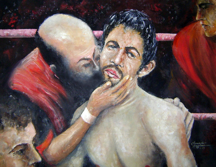 Sports Painting - What Am I Doing Here by Leonardo Ruggieri