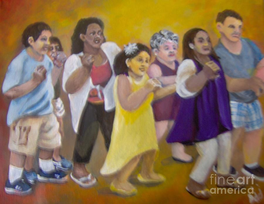 Dancing Painting - What America Should Look Like by Saundra Johnson